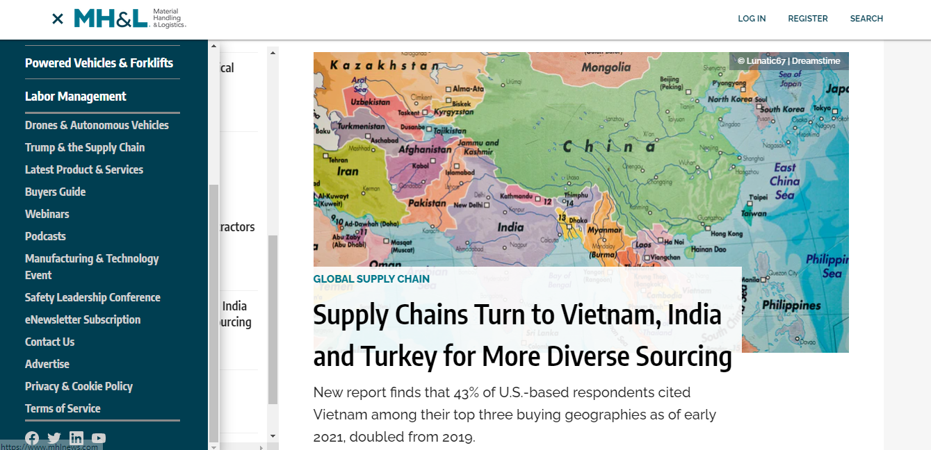 US journal: Vietnam among US top 3 buying geographies