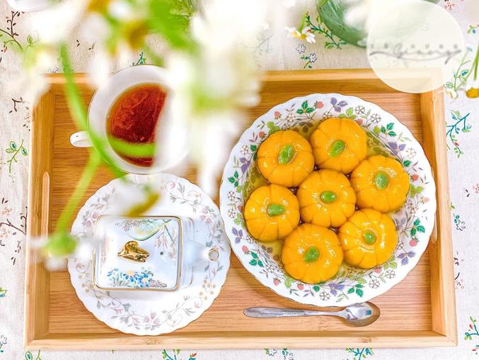 Recipe: Sweet pumpkin balls with mung bean filling