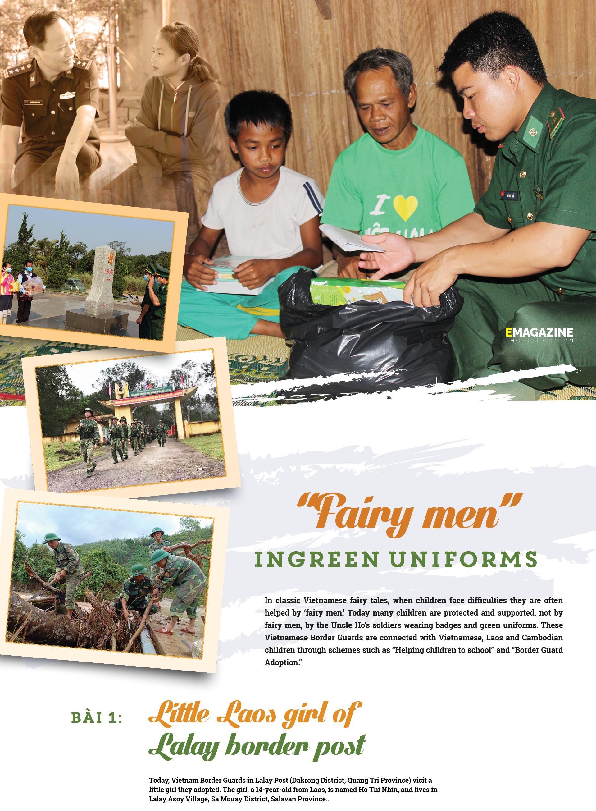 Fairy men in green uniforms
