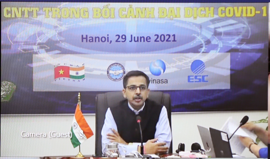 VUFO President Attends India - Vietnam Webinar on ICT Cooperation During Pandemic