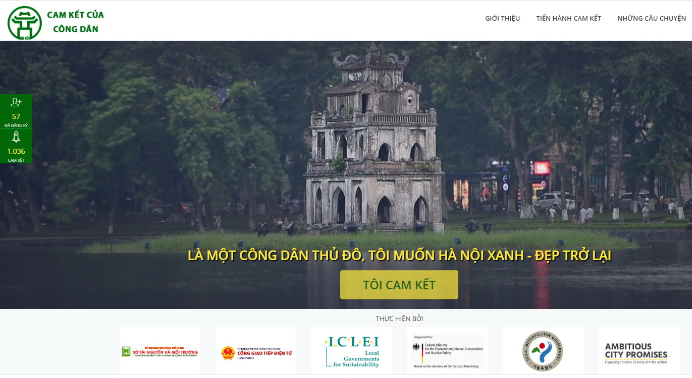 """""""Hanoi Civic Commitment"""" website officially launched"""