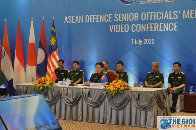 asean defence senior officials meeting plus adsom group held video conference