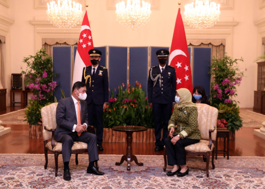 Singaporean President delighted at development of ties with Vietnam