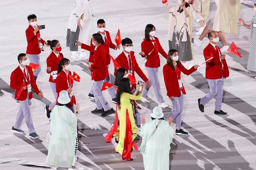 In Photo: Vietnamese Delegation Marches At Tokyo Olympics Opening Ceremony
