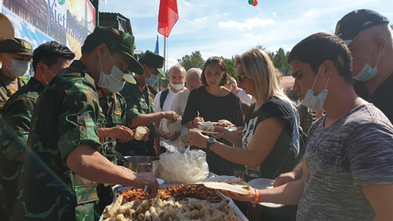 vietnam field kitchen leaves imprints at army games 2020