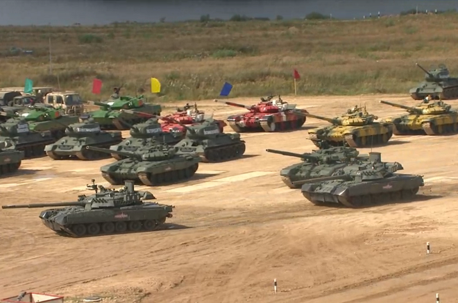 vietnam tank team entered the semi finals of the tank biathlon 2020 competition