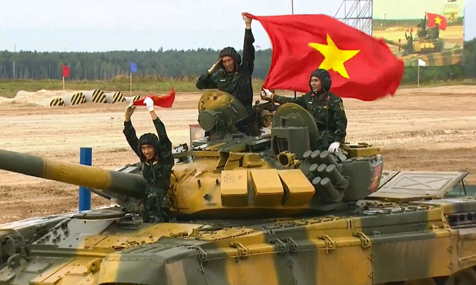 vietnam tank team entered the semi finals of biathlon 2020 competition