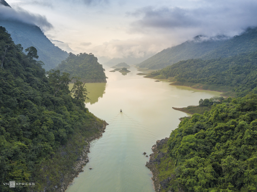 a miniature halong bay in mountainous province in vietnams northeast