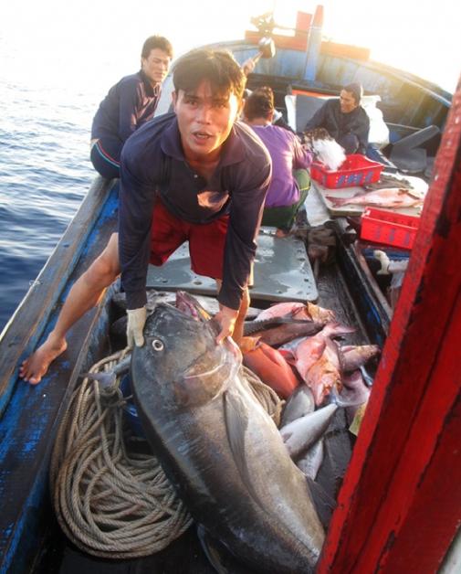 Great battle against ocean's monsters