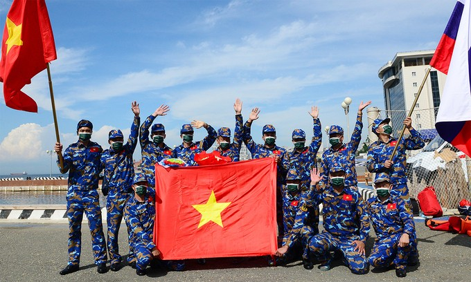 Vietnamese Team Ranked 7th at Army Games 2021