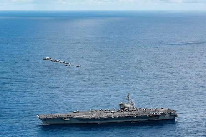 in photos us navy conducts show of power in the indo pacific another message to china
