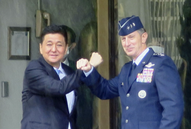 japan defense chief us commander share concerns over chinas maritime activities
