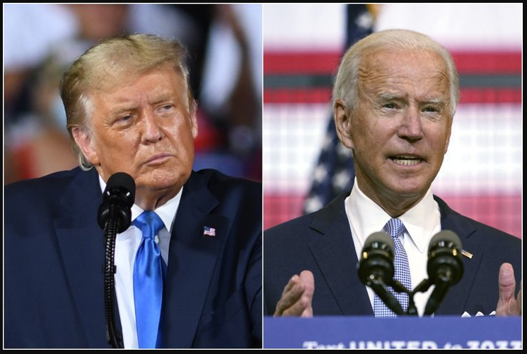 trump and biden confront in the final presidential debate