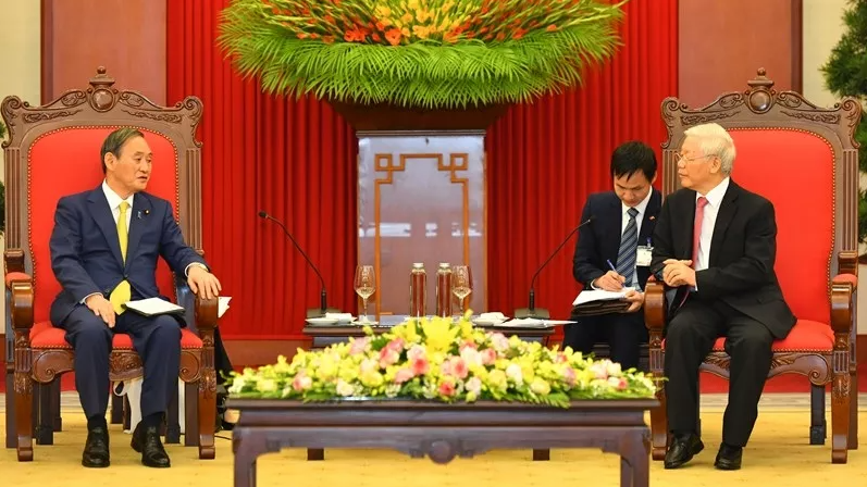 vietnam secretary general and president appreciates japans stance on bien dong sea