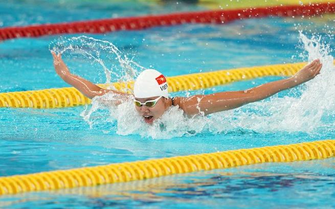 Swimming athlete Anh Vien - Vietnam