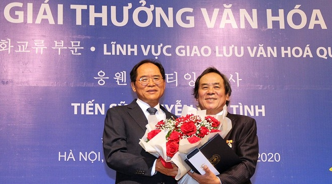 First Vietnamese to receive the Korean Sejong Cultural Award