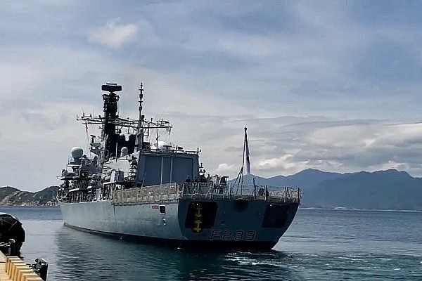 Vietnam's Navy Force Joins Exercises With Britain Frigate