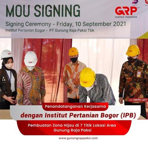 Gunung Raja Paksi Collaborates With Institut Pertanian Bogor To Strengthen ESG Efforts