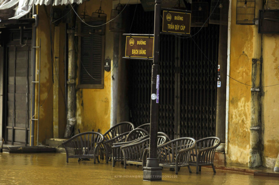 a dreary hoi an after the strike of storm molave