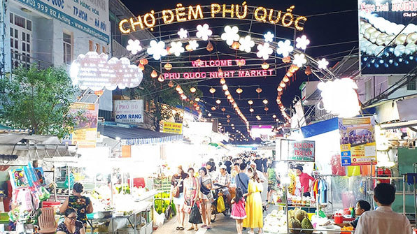 Night market in Phu Quoc Island District