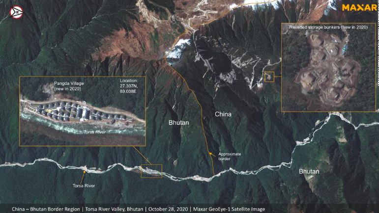 china allegedly developing area along disputed border with india and bhutan