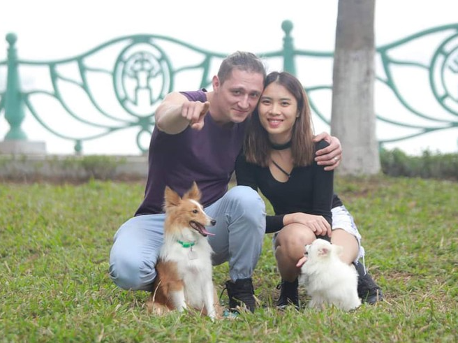 happy life of a vietnamese girl and her westerner husband bond for affection toward pets