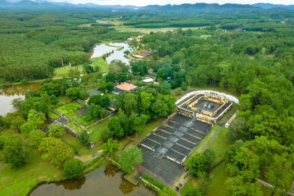 Hue mausoleum viewed from above
