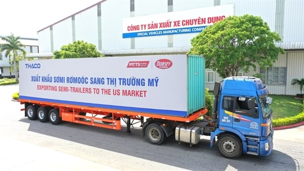 Vietnamese largest automaker exports 50 semi-trailers to US