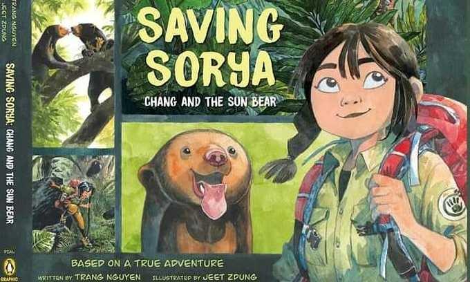 Book cover of 'Saving Sorya: Chang and the Sun Bear'. Photo courtesy of Trang Nguyen