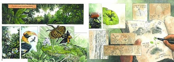 Pages from Saving Sorya: Chang and the Sun Bear. Illustrations by Jeet Zdung.