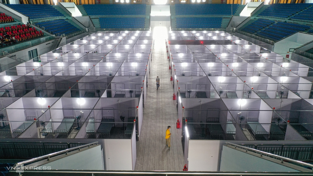A 600-bed field hospital is put into use in May in Bac Giang. Photo VnExpress