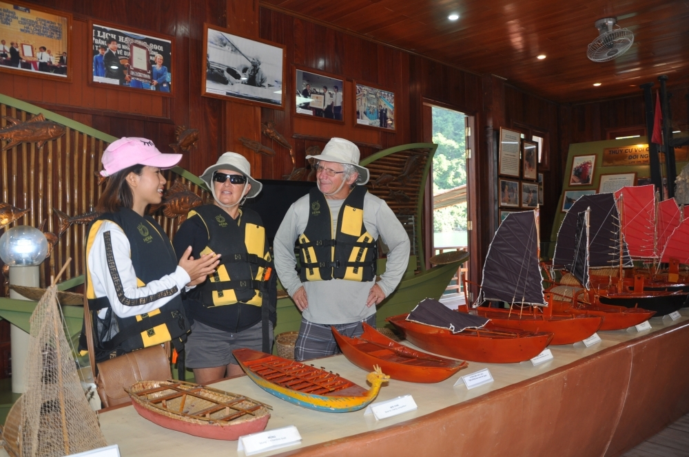 Cua Van Fishing Village cultural center, an attractive destination for foreign visitors. Photo Vietnam Economic Times