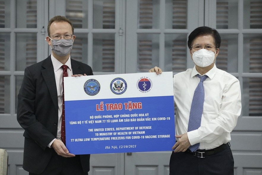 A Close Look At Ultra-Low Temperature Freezers Donated To Vietnam By The US