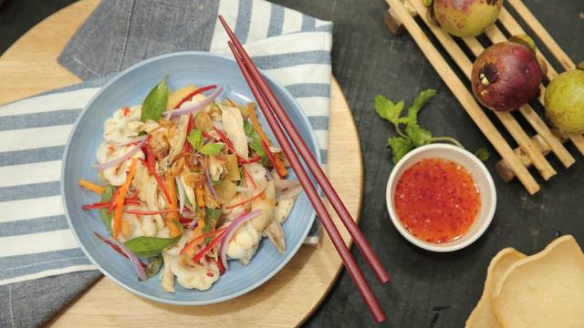 Green mangosteen salad – A specialty of Binh Duong