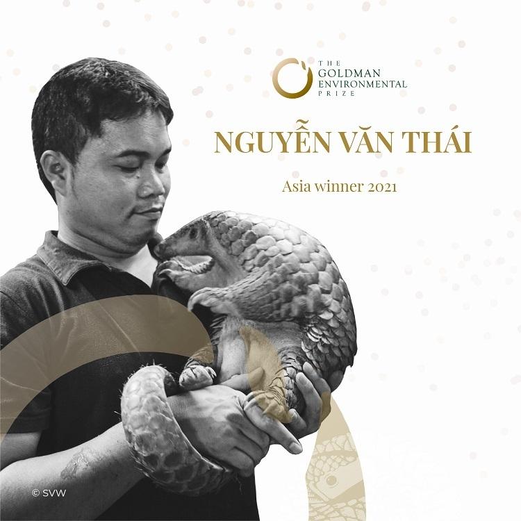A Vietnamese awarded the Green Nobel Prize