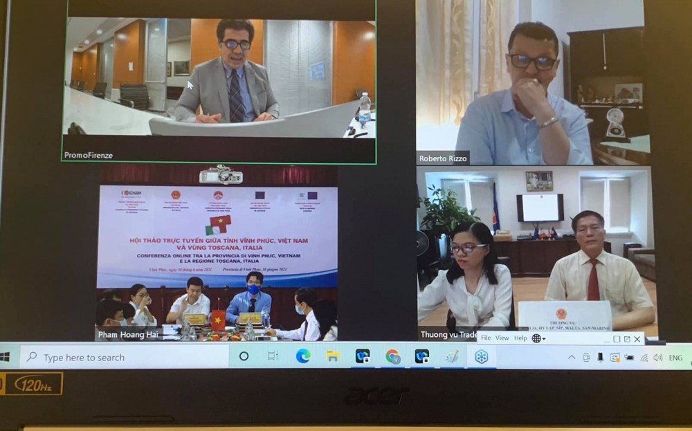 Strengthening cooperation between Vinh Phuc province and Tuscany, Italy