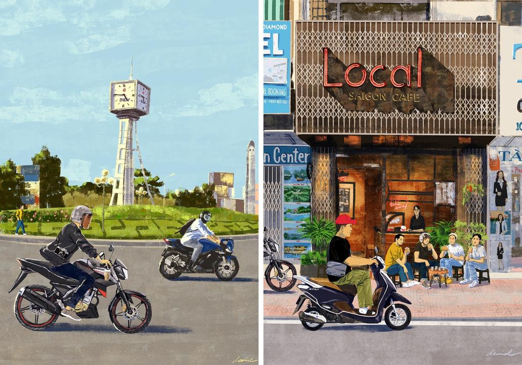 Lockdown Creativity: Filipino Artist Depicts a Formerly Bustling HCMC
