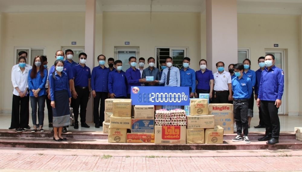 Lao Youth Union Provides Timely Pandemic Support to Vietnamese Students