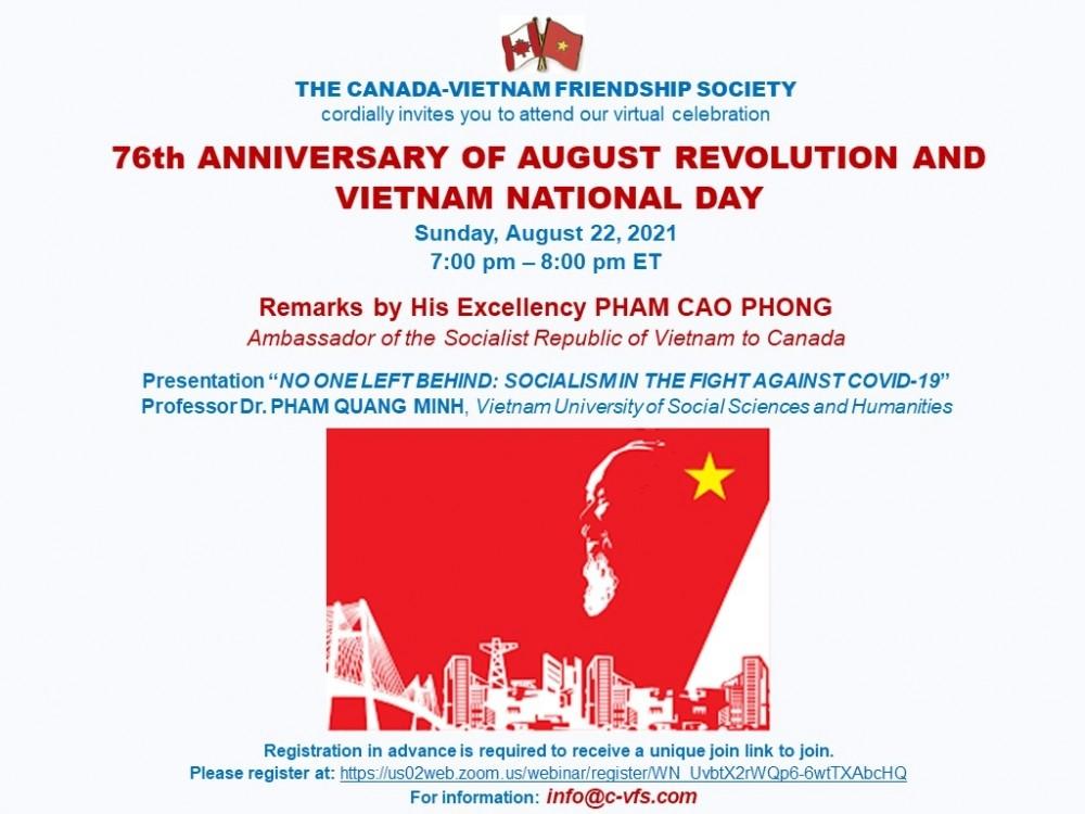 Canada-Vietnam Friendship Society Celebrates Vietnamese Independence