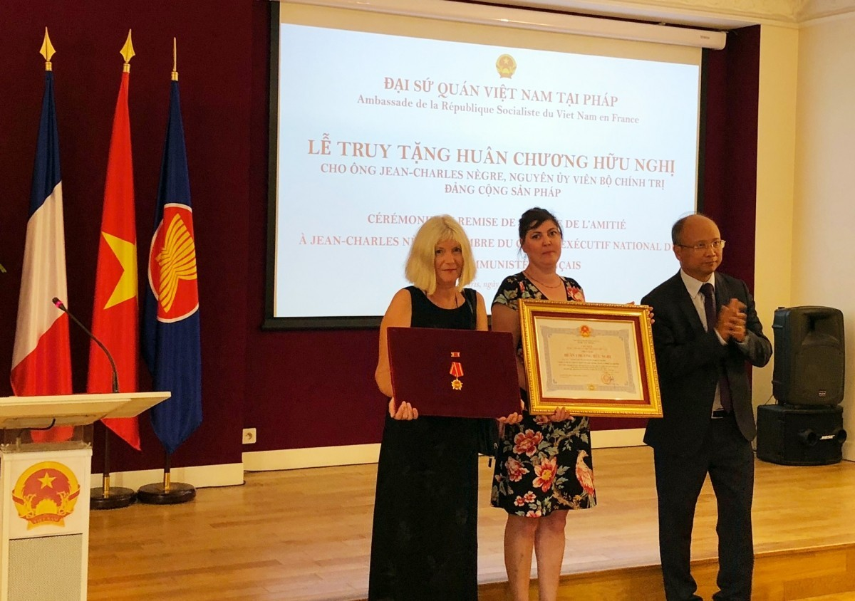 French Communist Jean-Charles Negre Posthumously Awarded by Vietnam