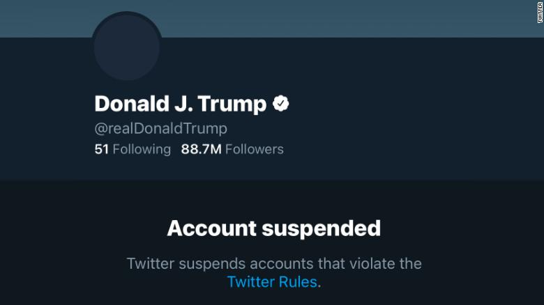 twitter bans donald trumps account after the us capitol attack