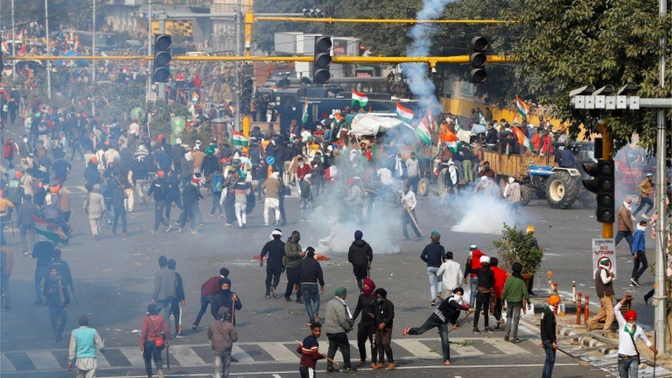 India blocks Internet after deadly violence of farmers protest at New Delhi
