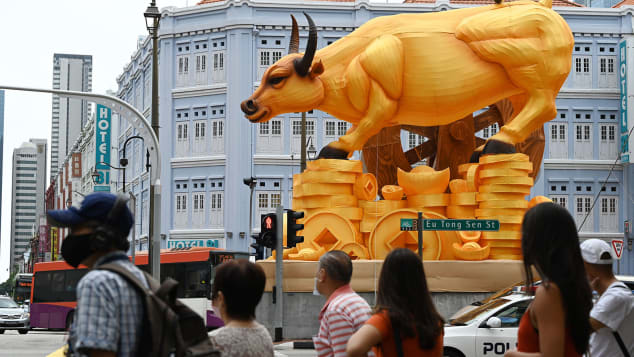 Celebrating Lunar New Year  2021, the Year of the Ox under Covid pandemic