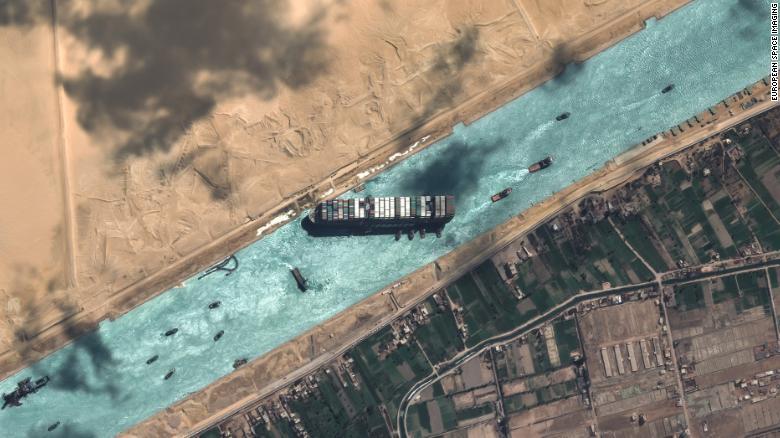 Suez Canal Crisis: The full 'worm moon' helped break the lojam