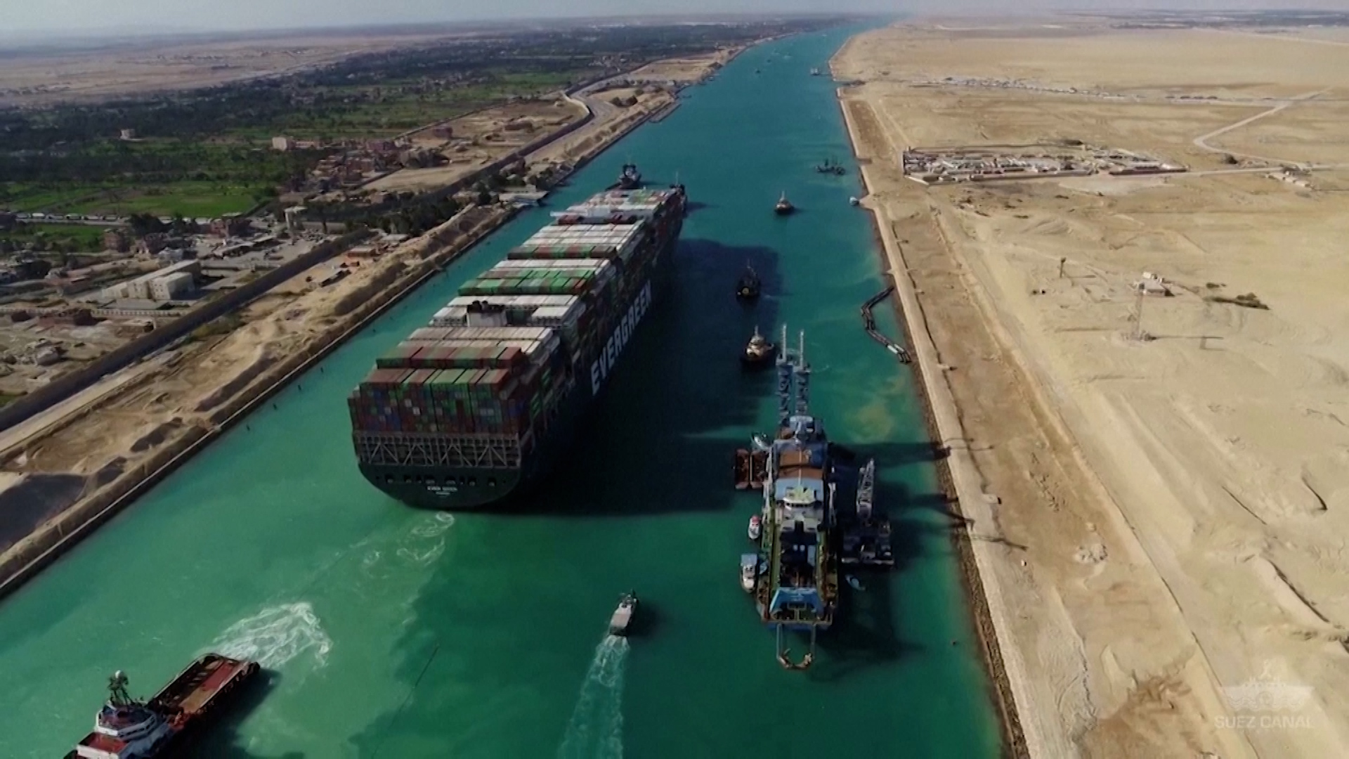 """Suez Canal ship flows are """"cleared""""  after Ever Given cargo ship freed"""