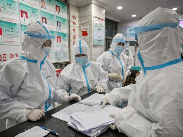 File photo: Medical staff at the Wuhan Red Cross Hospital in Wuhan, China