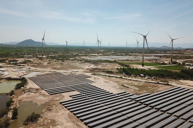 A view of Trung Nam Group's solar and wind power complex in Ninh Thuan Province. The project is the largest of its kind in Southeast Asia – PHOTO: TRUNG NAM GROUP