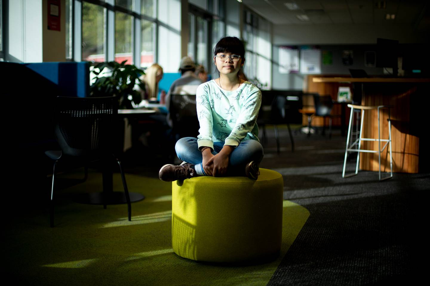 Vicky Ngo Ngoc who was 13 when she entered AUT is pursuing a double degree in finance and applied mathematics. Photo / Dean Purcell