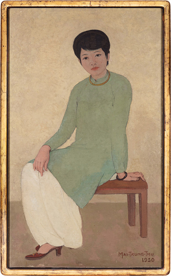 'Portrait of Mademoiselle Phuong' by Mai Trung Thu. Photo courtesy of Sotheby's.