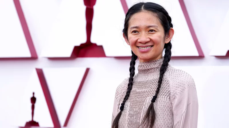 Director Chloé Zhao at the 2021 Oscars. She was the first woman to receive four Oscar nominations in a single year. Pool/Getty Images